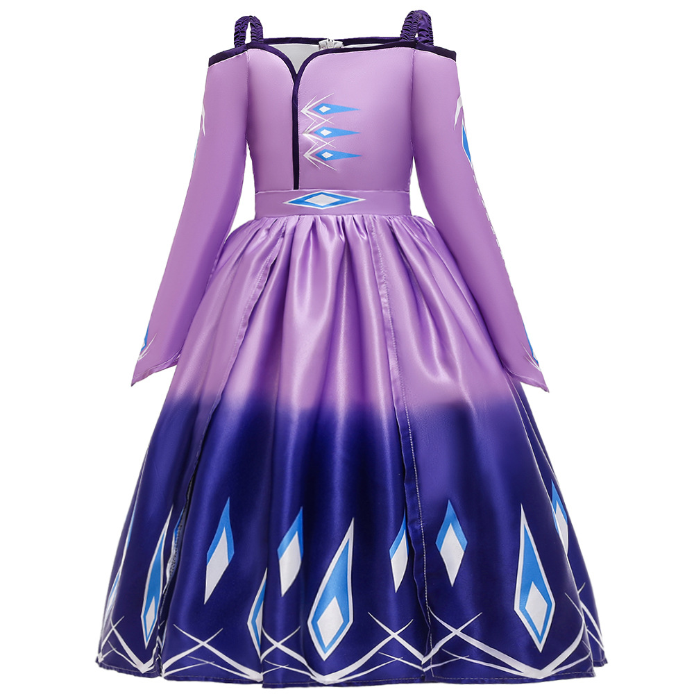 Toddler Girls Frozen 2 Elsa Off The Shoulder Princess Dress