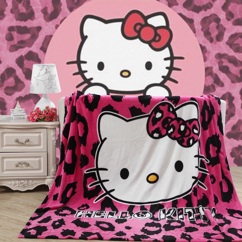 Print Hello Kitty Fannel Sleeping Blanket