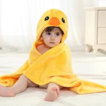 Kid Yellow Duck Hooded Bathrobe Cape Bathrobe Cloak