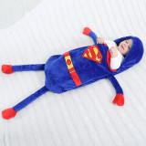 Newborn Baby Captain America Super Bat Man Thicken Cotton Flannel Sleeping Bag 0-24M