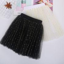 Kid Girl Gold Sequins Water Drop Tutu Skirt