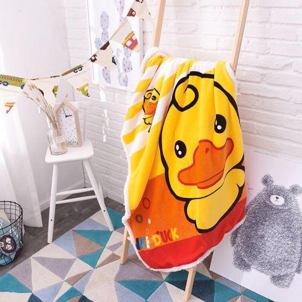 Print Yellow Duck Thicken Blanket Sleeping Cape