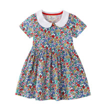 Toddler Kids Girls Print Flowers Leopard Print A-line Skater Dress