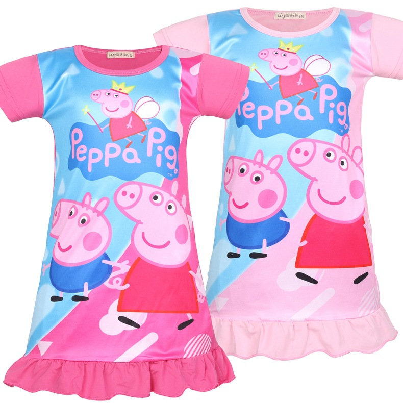 Toddler Girls Print Peppa Pig Sleep Dress