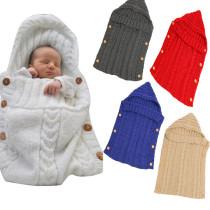 Newborn Baby Wrap Swaddle Knit Blanket Sleeping Bag