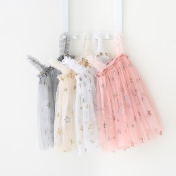 Toddler Girls Gold Sequins Stars Summer Slip Tutu Dress