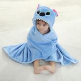 Kid Blue Stitch Hooded Bathrobe Cape Bathrobe Cloak