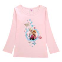 Toddler Kids Girls Print Frozen Elsa Princess Butterflies T-shirt Tee Tops