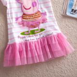 Toddler Girls Print Peppa Pig Stripes Tutu Dress