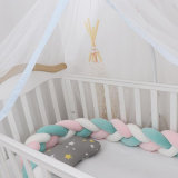 Infant Soft Pad Braided Crib Bumper 3 Color Knot Pillow Cushion Cradle Decor for Baby