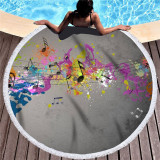 Prints Music Mark Cotton Beach Towel Blanket Table Cover Wall Hanging