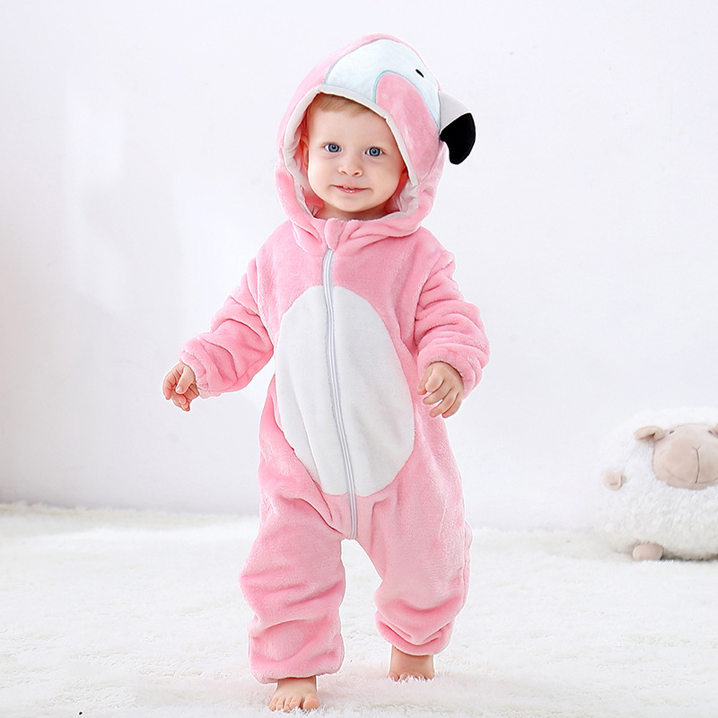 Flamingo Baby Onesie Kigurumi Pajamas Kids Animal Costumes for Unisex Baby