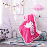 Print Rainbow Hello Kitty Thicken Blanket Sleeping Cape