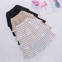 Kid Girl Multilayer Wrinkle Polka Dots Tutu Maxi Skirt