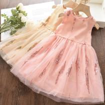 Toddler Kids Girls Sequins Sleeveless Tutu Party Dress