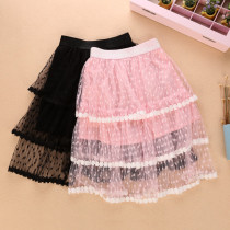 Kid Girl Lace Flower Drop Tutu Skirt