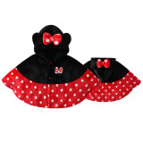 Baby Mickey Donald Duck Winnie the Pooh Flannel Cloak Warm Winter Hooded Cape