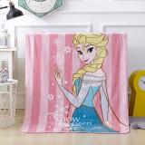 Print Pink Frozen Princess Flannel Blanket Sleeping Cape