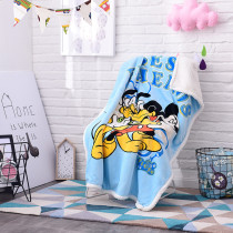 Print Mickey Mouse Thicken Blanket Sleeping Cape