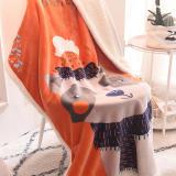 Print Flamingo Bear Rabbit Blanket Sleeping Cape