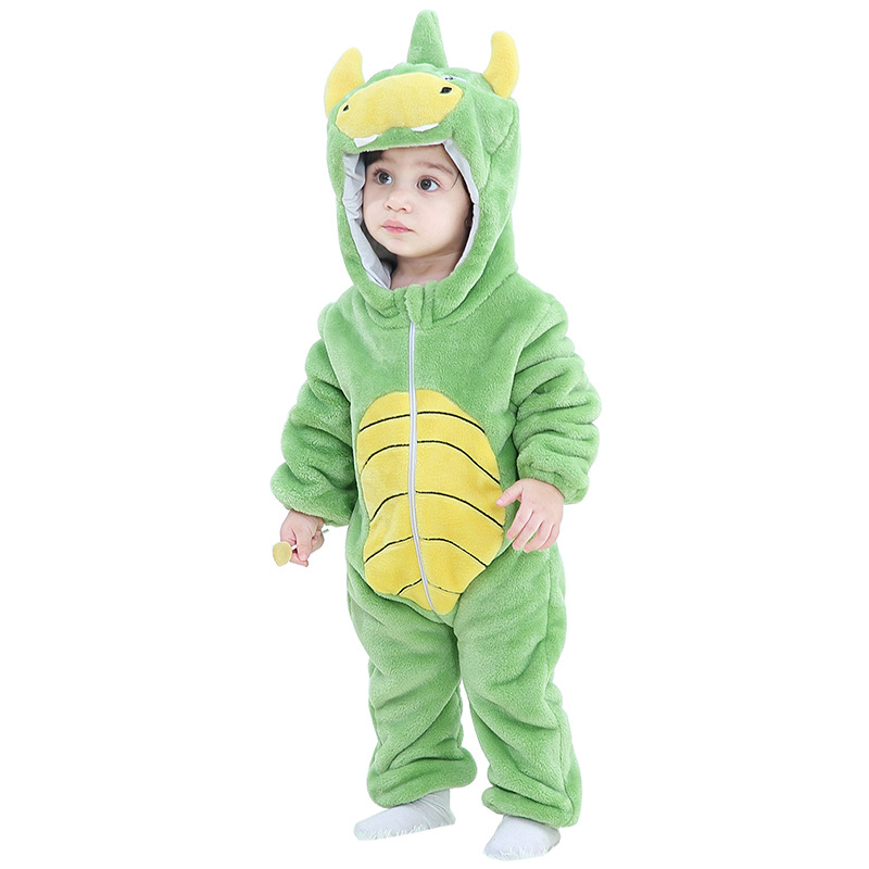 Green Dinosaur Baby Onesie Kigurumi Pajamas Kids Animal Costumes for Unisex Baby
