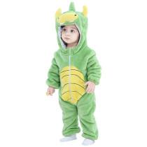 Green Dinosaur Baby Onesie Kigurumi Pajamas Kids Animal Costumes for Unisex Baby