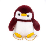 Cute Plush Stuffed Penguin Crossbody Shoulder Bag for Toddlers Kids