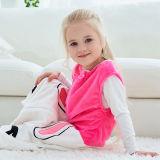 Unisex Kids Split Legs Animals Sleeping Bag Winter Zipper Sleepwear Sleeveless Warm Pajamas