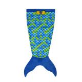 Kids Mermaid Tail Fish Scale Design Flannel Blanket Sleeping Bag