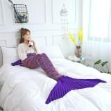 Kids & Adult Crochet Knit Mermaid Tail Blanket Sleeping Bag