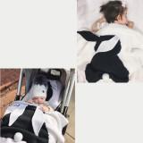 Cute Rabbit Knit Blanket For Kids