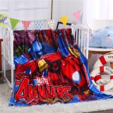 Print Super Man Fannel Sleeping Blanket