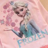 Toddler Girls Print Elsa Frozen Princess Snowflake Sequins Stars Long Sleeves Tutu Dress