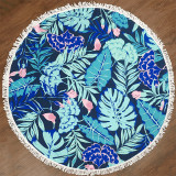 The Tropical Palm Leaves Cotton Beach Towel Blanket Table Cover Wall Hanging