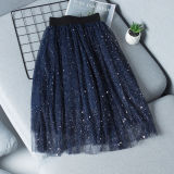 Kid Girl Silver Sequins Stars Crescent Moon Tutu Skirt