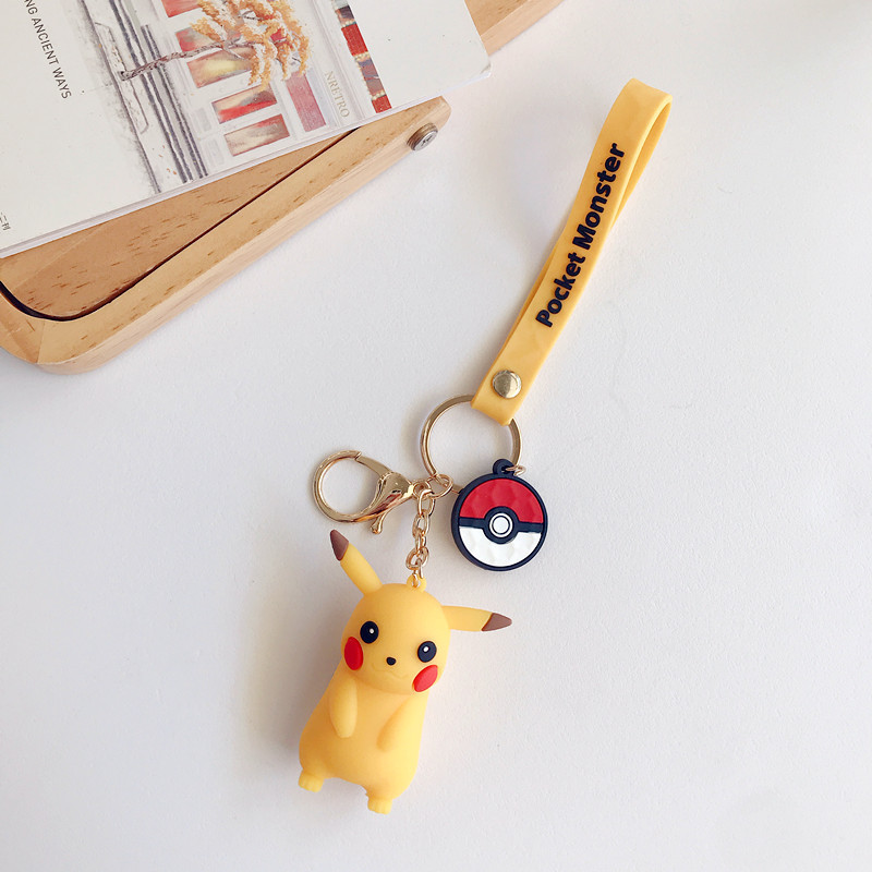 Yellow Pikachu Key Chain Bag Decoration