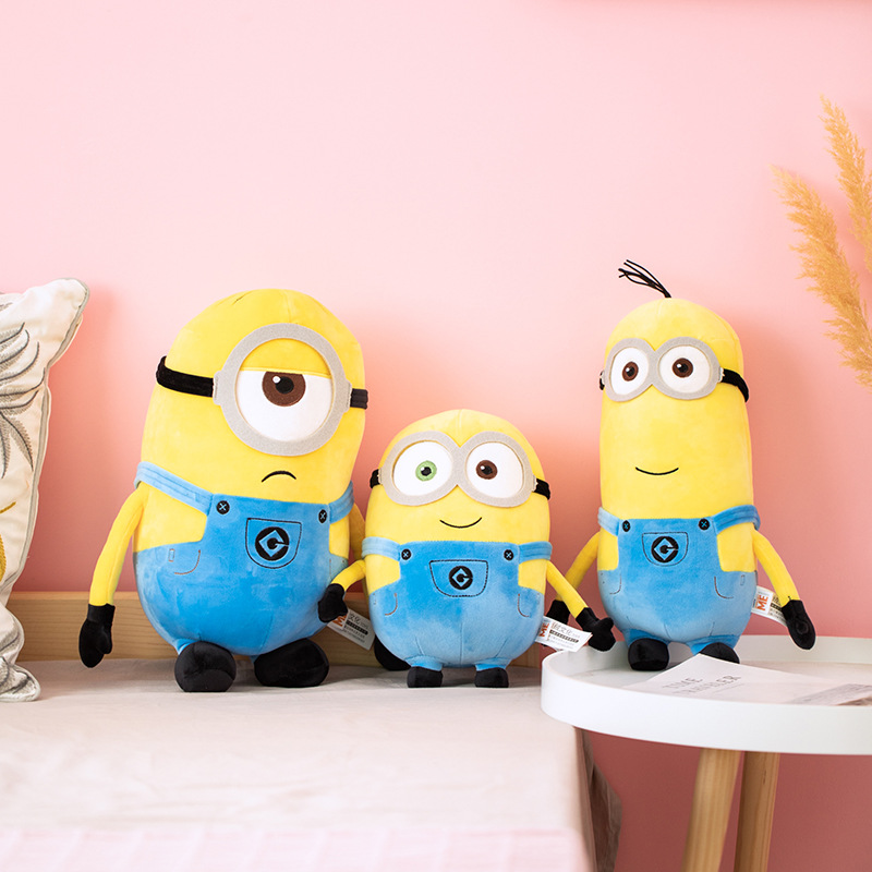Yellow Minions Cartoon Soft Stuffed Plush Doll for Kids Gift