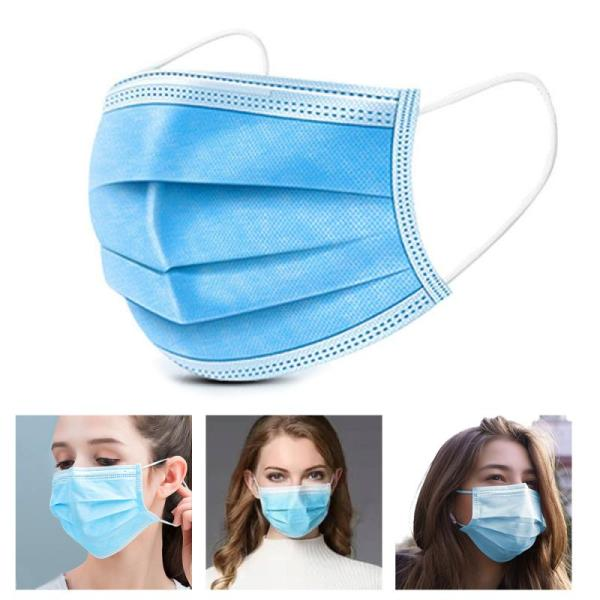 Disposable 3-Lay Face Masks