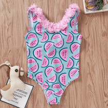 Toddle Kids Girls Flowers Ruffles Prints Watermelons Hearts Avocados Swimsuit Swimwear