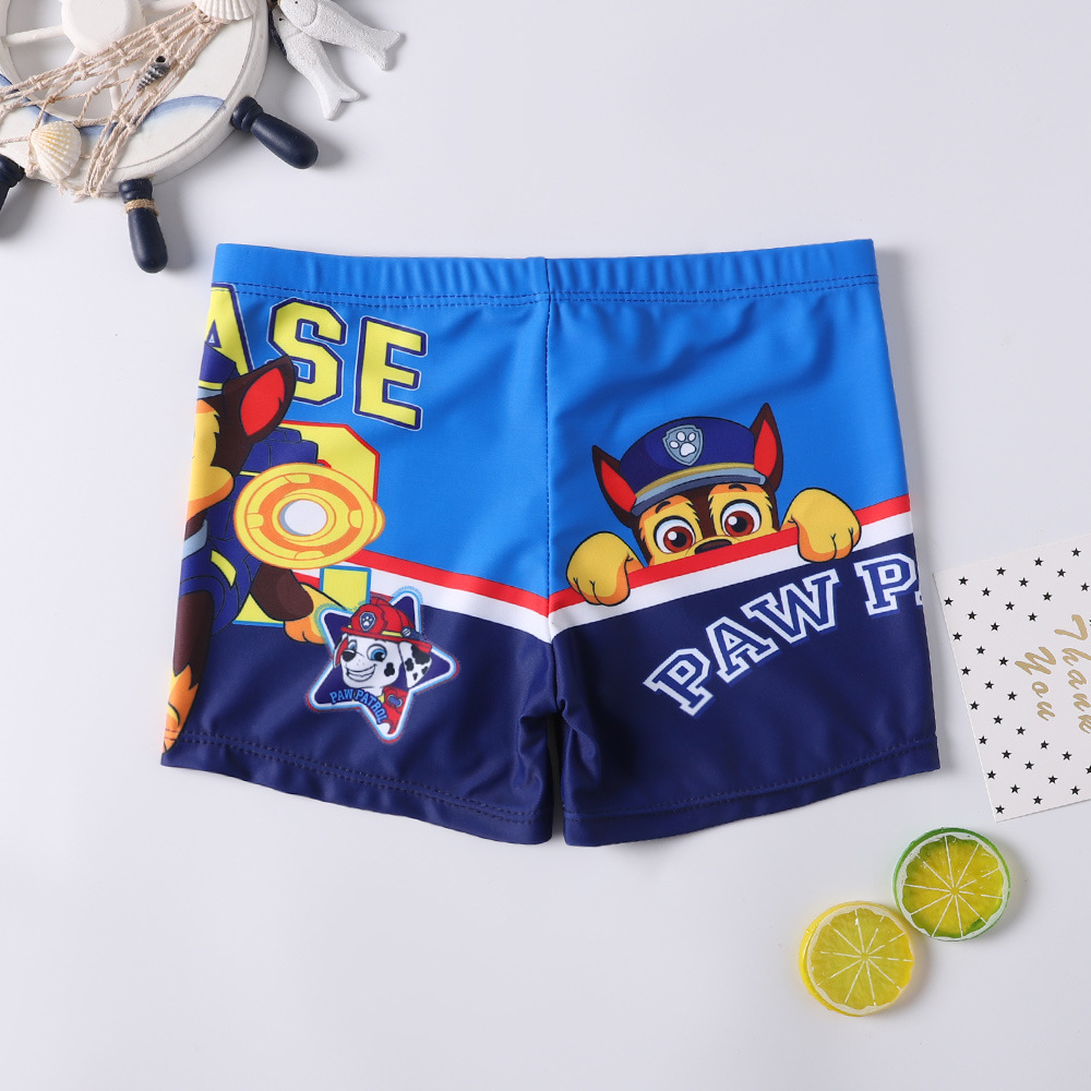 Kid Boys Print PAW Patrol Swimwear Trunks Swim Boxer Shorts