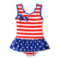 Toddle Kids Girls Stripes Ruffles Swimsuit Swimwear