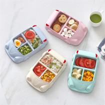 Bamboo Fiber Children's Plate Separate Car Tableware Baby Feeding Sets Children Tableware