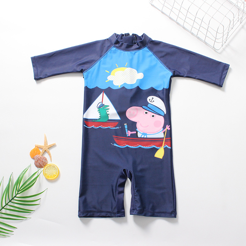 Toddler Kid Boys Print Peppa George Pig Swimwear