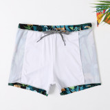 Dad and Boys Prints Jungle Cheetah Swimwear Trunks Swim Boxer Shorts