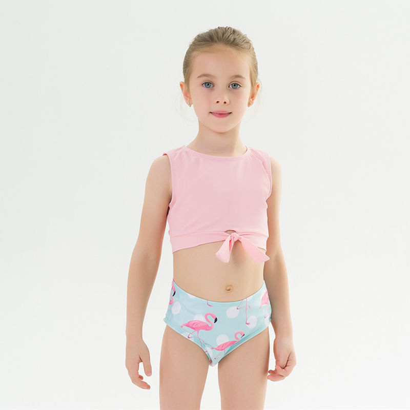 Toddle Kids Girls Prints Flamingos Tow Pieces Swimwear