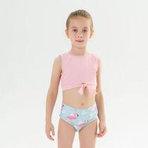 Toddle Kids Girls Prints Flamingos Tow Pieces Swimwear