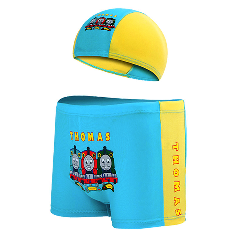 Kid Boys Print Thomas Train Swimwear Trunks Swim Boxer Shorts