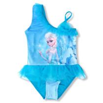 Toddle Kids Girls Print Frozen Elsa Princess Blue Tutu Swimsuit Swimwear