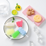 Silicone Shapes Fruits Animals Dinosaurs Ice Cream Molds Wich Cap Stick