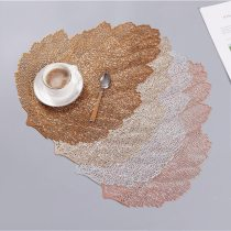 Leaves Design Hollow Out Waterproof Insulation PVC Placemats